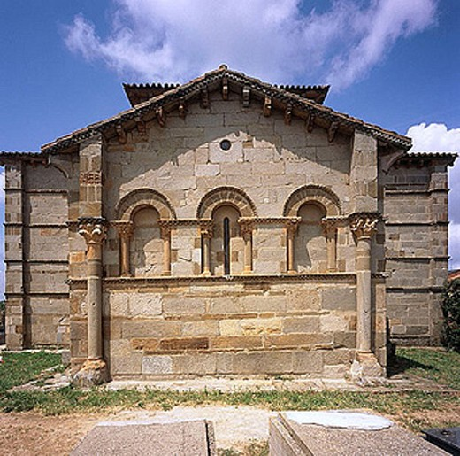 Romanesque church (12th century), Santa Marta de Tera, Zamora province, Castile-Leon, Spain : Stock Photo