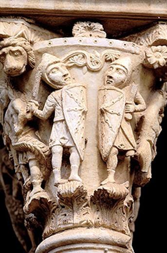Cloister of Monreale. Sicily. Italy. : Stock Photo