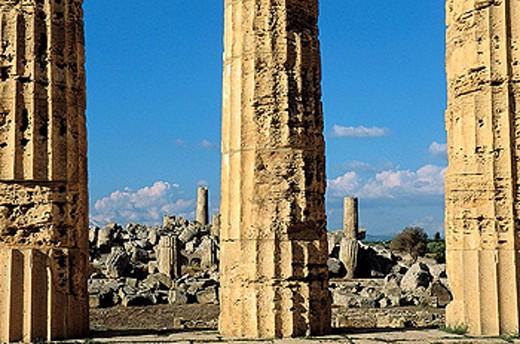 E temple. Selinunte. Sicily. Italy. : Stock Photo