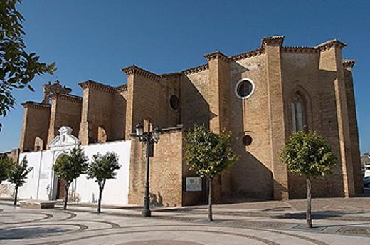 Convent of Santa Clara (14th-15th century), Moguer. Huelva province, Andalusia, Spain : Stock Photo