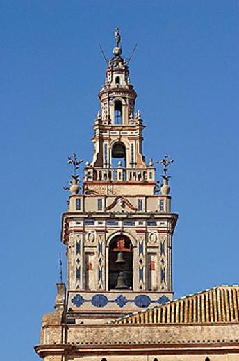 Church of Santa Maria de la Granada (17th century), Moguer. Huelva province, Andalusia, Spain : Stock Photo