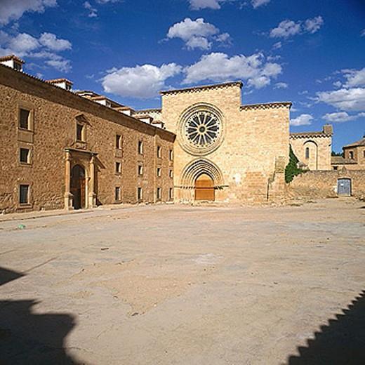 Monastery of Santa Maria de Huerta (13th century). Soria province, Castilla-León, Spain : Stock Photo