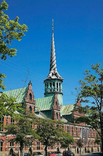 ´Borsen´ former stock exchange built in 1619, Copenhagen. Denmark : Stock Photo