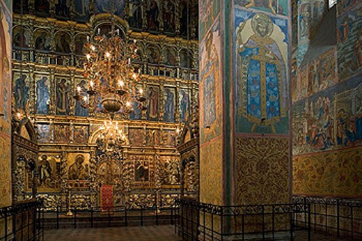 Stock Photo: 1566-282514 Frescoes in the Church of the Prophet Elijah (1647-50), Yaroslavl. Golden Ring, Russia