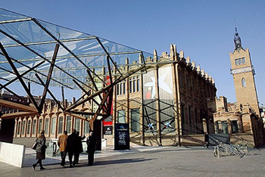 Caixaforum. Barcelona. Spain. : Stock Photo