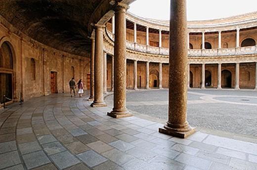 Stock Photo: 1566-283921 Alcázar, Carlos V Palace. Granada. Andalucía. Spain.