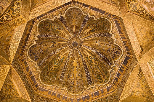 Stock Photo: 1566-284513 Cordoba, Spain. Dome of the Mihrab in the Great Mosque