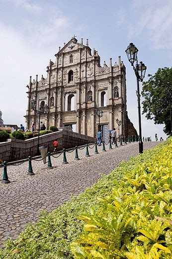 Stock Photo: 1566-284795 Ruins of Saint Paul´s church, Macau. China
