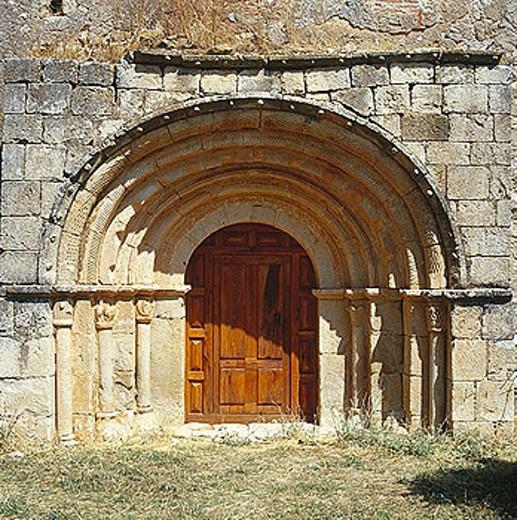 Stock Photo: 1566-287645 Chapel of Nuestra Señora de la Calzada, Brías. Soria province, Castilla-León, Spain