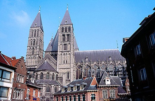 Stock Photo: 1566-288122 Notre-Dame cathedral. Tournai. Belgium.