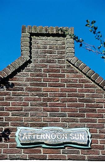 House gable, Volendam. Holland : Stock Photo