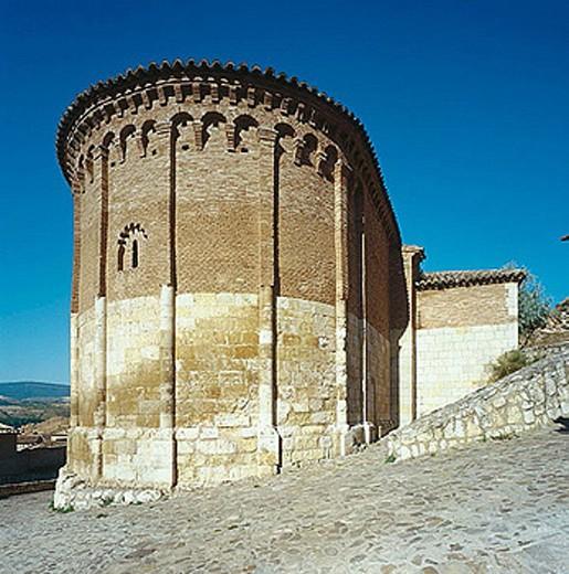 Stock Photo: 1566-288367 St. John´s romanesque church (12th century), Zaragoza. Aragón, Spain