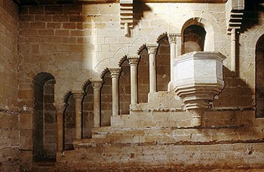 Stock Photo: 1566-289413 Refectory, Cistercian monastery of Rueda near Escatrón. Zaragoza province, Aragón, Spain