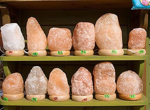 Healthy salt cubes of Wieliczka Salt Mine of Poland : Stock Photo