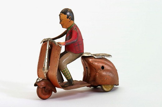 Old tin toy : Stock Photo