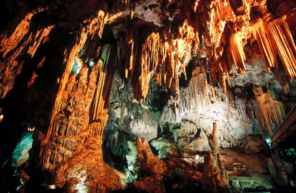 Nerja caves, Málaga province, Spain : Stock Photo