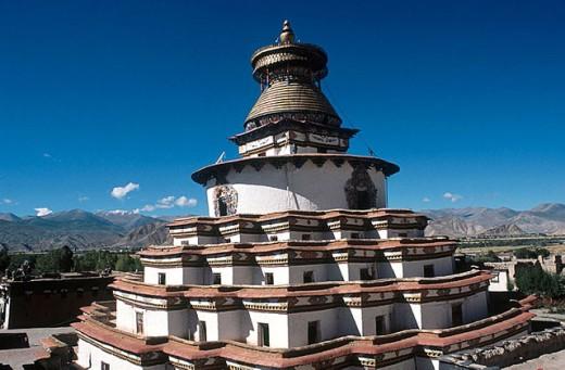 Stock Photo: 1566-290952 Largest stupa in Tibet. Gyantse Kumbum.
