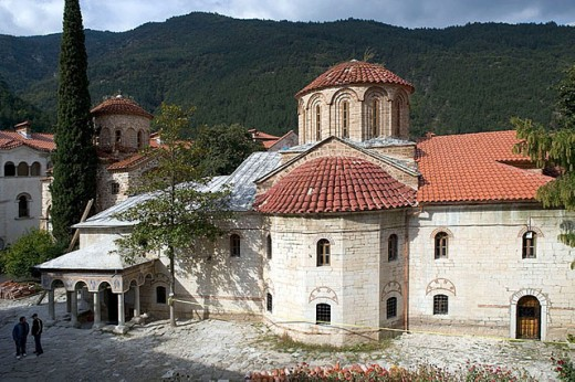 Stock Photo: 1566-291563 Cathedral Church of the Virgin Mary (dating from 1604), Bachkovo Monastery. Bulgaria