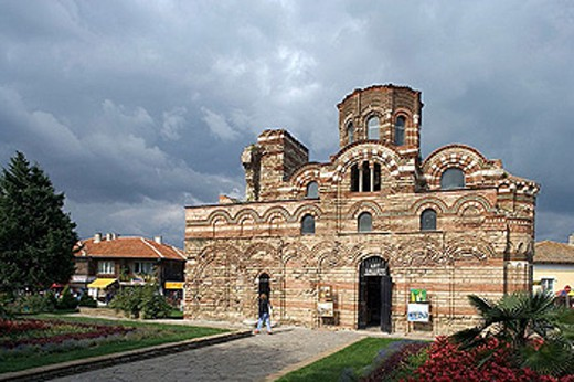 Stock Photo: 1566-291602 Church of Christ Pantocrator (14th century) in Nessebar, Black Sea coast. Bulgaria