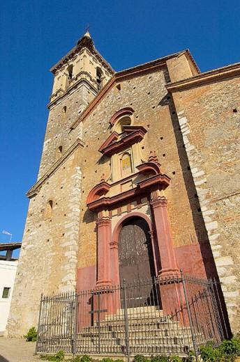 St. Mark´s church (17th-18th century), Alájar, Sierra de Aracena y Picos de Aroche Natural Park. Huelva province, Andalusia, Spain : Stock Photo