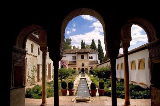 Stock Photo: 1566-291883 ´Patio de la Acequia´ of the Generalife, at Granada. Spain.
