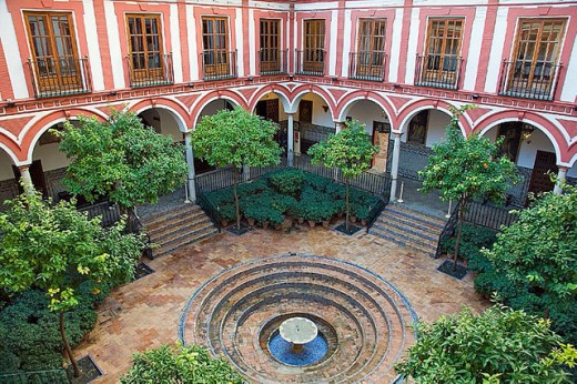Hospital de los Venerables Sacerdotes (17th century), Sevilla. Andalusia, Spain : Stock Photo