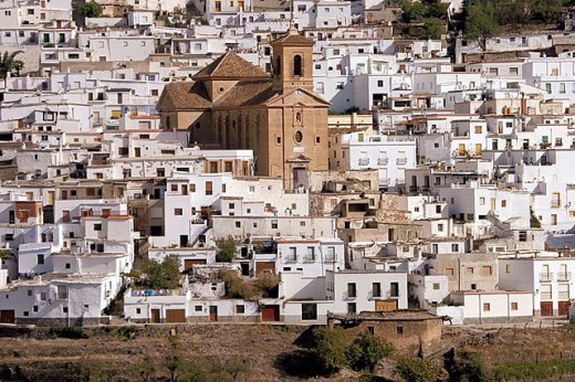 The ecological village of Ohanes, in the Alpujarras mountains. Almeria province. Spain. : Stock Photo