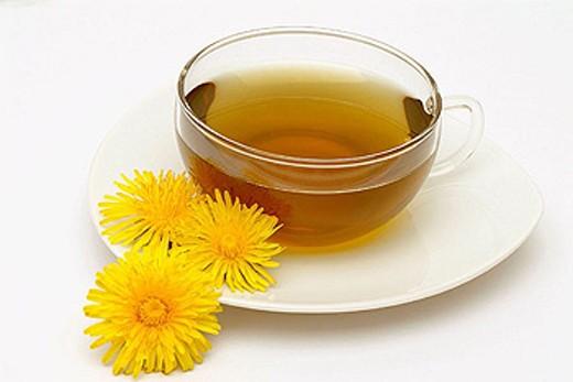 Medicinal plant, common Dandelion, Tea. Taraxacum officinale. : Stock Photo