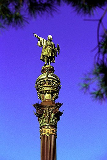 Stock Photo: 1566-293910 COLON MONUMENT,  ART, SPAIN, ARCHITECTURE,