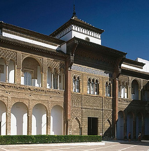 Palace of Peter I the Cruel, Reales Alcazares, Sevilla. Andalusia, Spain : Stock Photo
