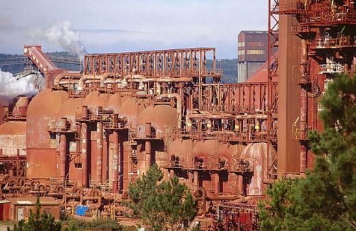Stock Photo: 1566-294250 Aluminium factory, San Cibrao. Lugo province, Galicia, Spain