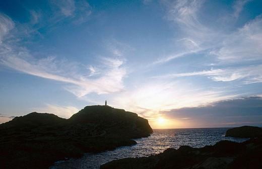 Sunset. Cabrera. Balearic Islands. Spain : Stock Photo