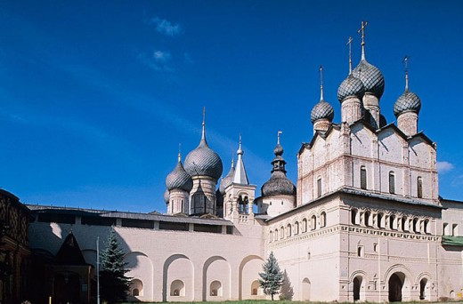 Stock Photo: 1566-295588 Church of the Resurrection of Christ (1670), The Kremlin, Rostov the Great. Golden Ring, Russia
