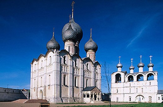 Stock Photo: 1566-295593 Cathedral of the Assumption (16th century), The Kremlin, Rostov the Great. Golden Ring, Russia
