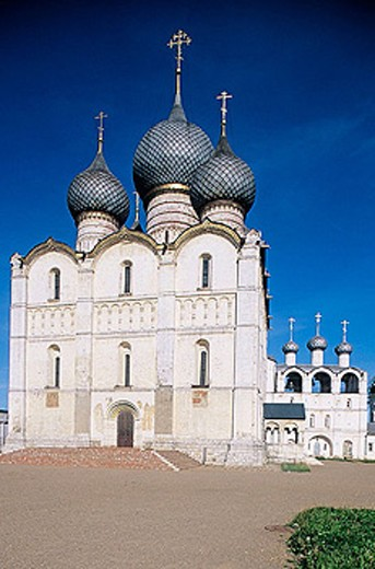 Stock Photo: 1566-295595 Cathedral of the Assumption (16th century), The Kremlin, Rostov the Great. Golden Ring, Russia