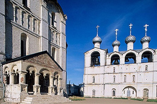 Stock Photo: 1566-295597 Cathedral of the Assumption (16th century), The Kremlin, Rostov the Great. Golden Ring, Russia