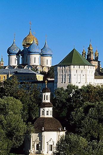 Holy Trinity-St. Sergius Lavra (monastery), Sergiyev Posad. Golden Ring, Russia : Stock Photo