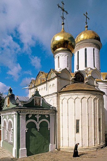 Trinity Cathedral (1422-1423), Holy Trinity-St. Sergius Lavra (monastery), Sergiyev Posad. Golden Ring, Russia : Stock Photo