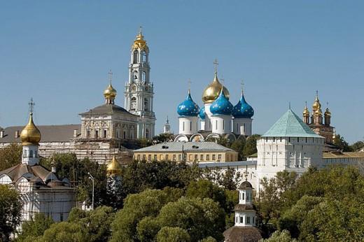 Stock Photo: 1566-295684 Holy Trinity-St. Sergius Lavra (monastery), Sergiyev Posad. Golden Ring, Russia
