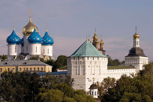 Stock Photo: 1566-295692 Holy Trinity-St. Sergius Lavra (monastery), Sergiyev Posad. Golden Ring, Russia