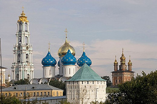 Holy Trinity-St. Sergius Lavra (monastery), Sergiyev Posad. Golden Ring, Russia : Stock Photo