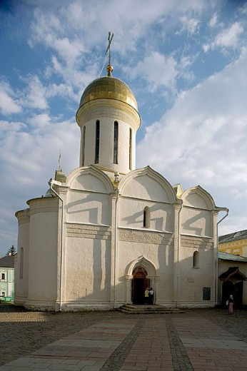Trinity Cathedral (1422-1423), Holy Trinity-St. Sergius Lavra (monastery), Sergiyev Posad. Golden Ring, Russia : Stock Photo