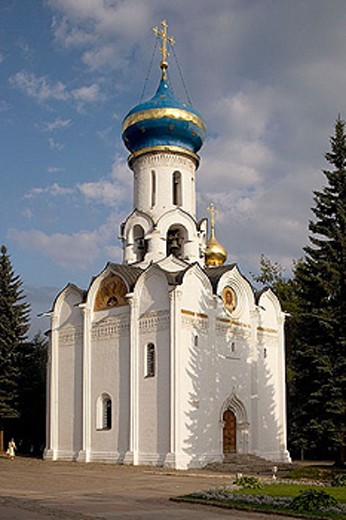 Church of the Holy Ghost (1476-1477), Holy Trinity-St. Sergius Lavra (monastery), Sergiyev Posad. Golden Ring, Russia : Stock Photo