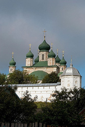 Cathedral of the Assumption (mid-18th century), Goritsky Monastery (17th-18th centuries), Pereyaslavl-Zalessky. Golden Ring, Russia : Stock Photo