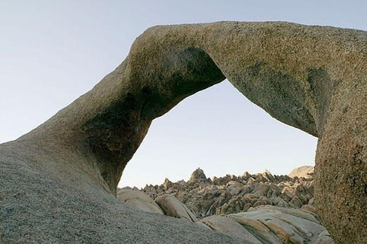 Stock Photo: 1566-296107 Natural stone arch in the Alabama Hills. Eastern Sierras. Bishop. California. United States