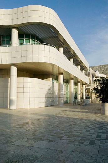 Modern architecture of the Getty Center. Los Angeles. California. United States : Stock Photo