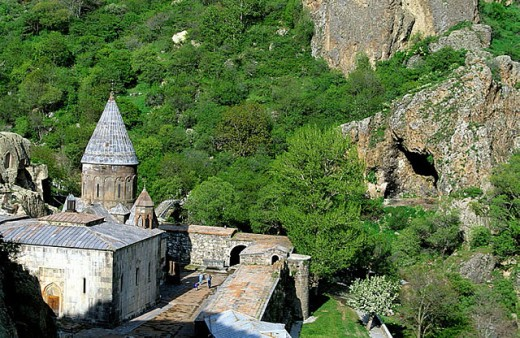 Stock Photo: 1566-297803 Geghard monastery complex. Armenia