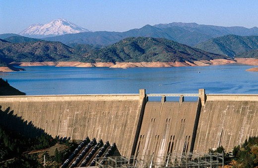 Shasta dam. California. USA. : Stock Photo