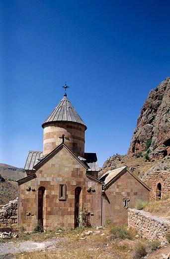 Stock Photo: 1566-298110 Church of S. Karapet (13th century), Noravank Monastery. Armenia