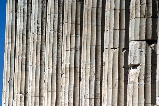 Columns detail. Acropolis. Athens. Greece : Stock Photo